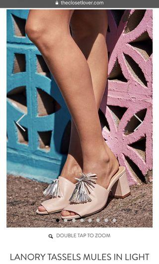 TCL Lanory Tassels Mules in Light pink