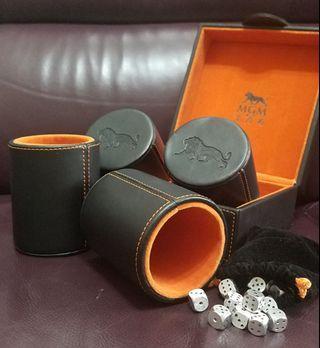MGM美高梅-仿皮骰盅禮盒套裝