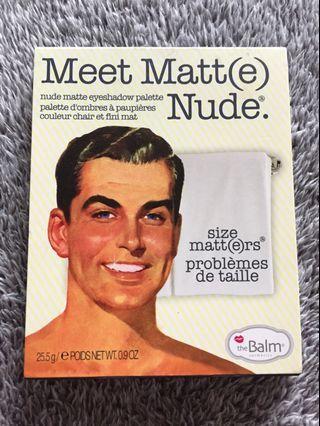 The Balm Meet Matt(e) Nude Matte Eye Shadow Palette TheBalm Eyeshadow