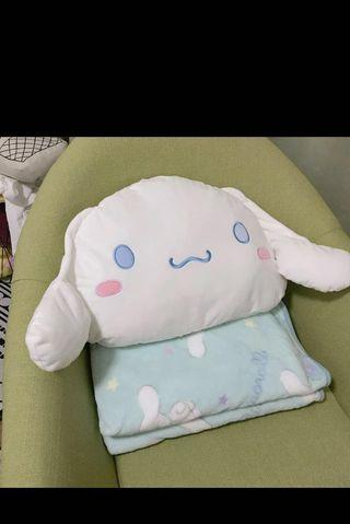 [PO] Cinnamoroll Pillow with Blanket