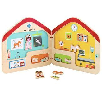 *instock* Hape Visit the Vet Magnetic Travel Book