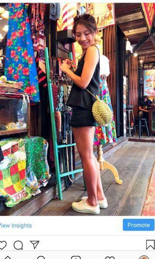 Fun Sling Bag. Durain Bag. Durian Lover.  Rubber. Creative.