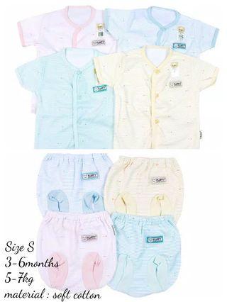 3-6 months Fluffy baby striped day wear set