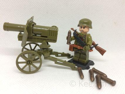 Compatible Lego Minifigures (Not Lego) - Kuomintang Army WW2 Soldiers (6 soldiers and accessories)