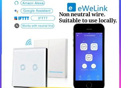 Smart wall switch Wifi connection Ewelink app compatible