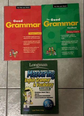 Primary School English Grammar and Vocabulary Guidebooks
