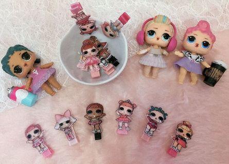 🚚 Cute Lol dolls hair clips