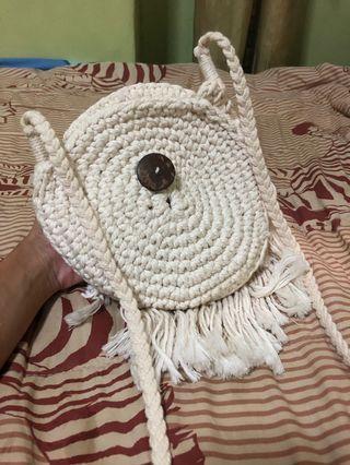Knitted Bohemian Sling Bag