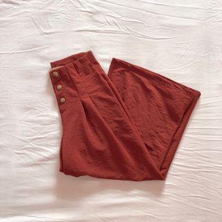 pull&bear pleated high waisted culottes