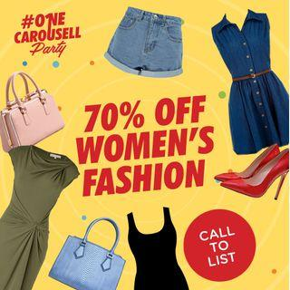 Call to LIst: One Big Sale Women's Fashion