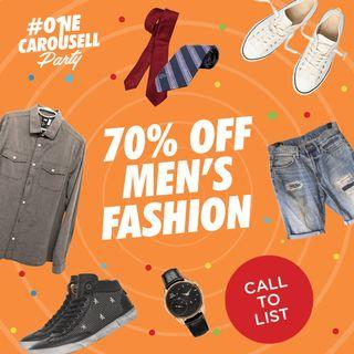Call to List: One Big Sale Men's Fashion