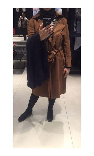 BELTED BROWN COAT