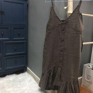 長身裙吊帶魚尾裙格仔裙