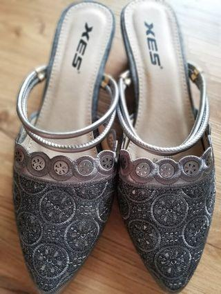 Grey Front Covered Sandal