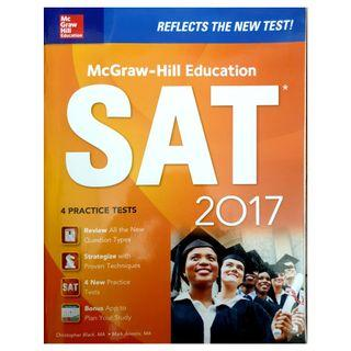 SAT study guide by McGraw Hill