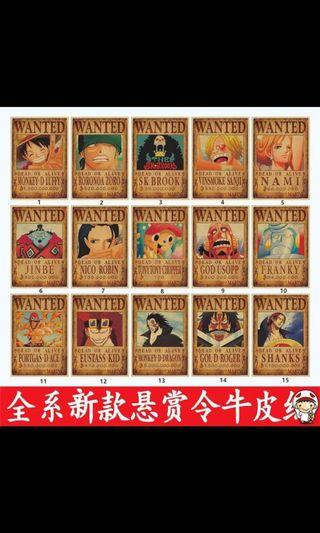 🚚 One piece wanted poster