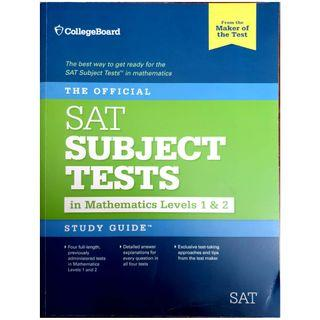 Official study guide for the SAT subject tests in Math level 1&2