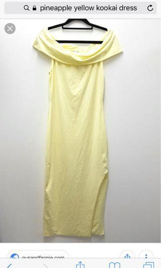 Kookai Yellow Midi Dress