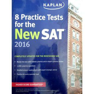 KAPLAN study guide for the new SAT with 8 practice tests inside