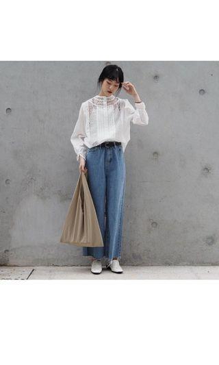 拾11妞 eleven floor 韓國代購 白色 蕾絲 通花 上衣