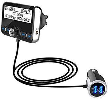 TOOGOO DAB002 DAB Digital Radio Receiver FM Tuner Radio Car Bluetooth 4.2 Transmitter Adapter FM DAV/DAB Tuner Broadcasting