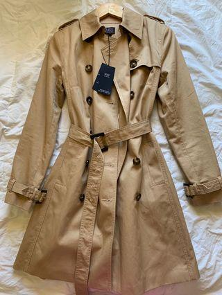 M&S Tan Trench Coat - AU Size 8