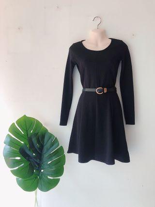 Textured Black Dress