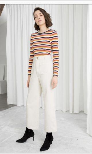 Other stories white high waist pants Eur 38