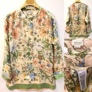 Gucci flowers shirt size 12