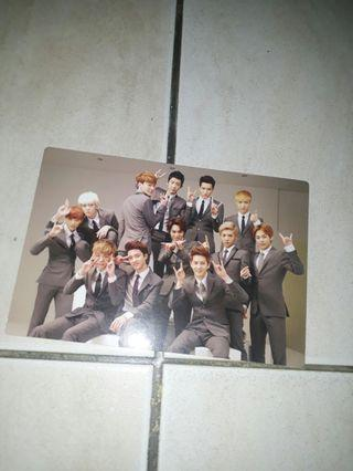Wts exo growl group official postcard
