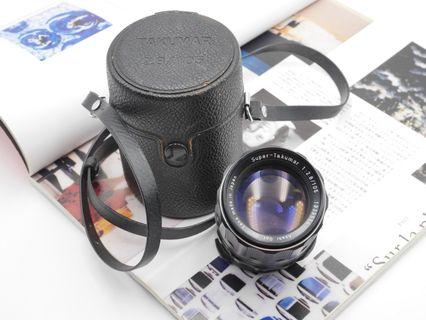 MINT Pentax Super Takumar 105mm F2.8 + Case and hood