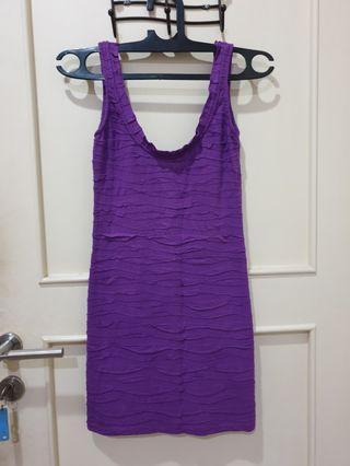 Mini dress strecth ungu