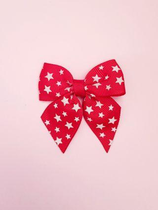 🆕️Cute Korean Red with white star bow