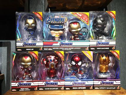 Hot Toys Avengers: Endgame Complete LED Light Up Cosbabys Collection MISB
