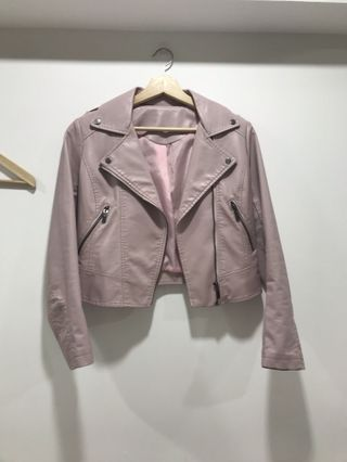 #88 Dusty Pink Leather Jacket