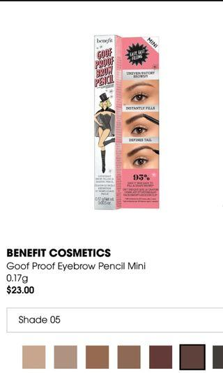 🚚 Benefit Goof Proof Brow pencil