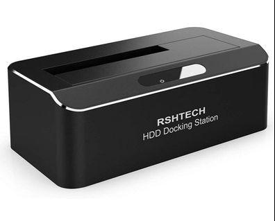 🚚 RSHTECH USB 3.0 to SATA Hard Drive Docking Station Single Bay External Disk Enclosure for 2.5 or 3.5 inch HDD SSD, Support UASP and Up to 10TB Drives, Tool-Free Aluminum Housing with ABS Spring Cover