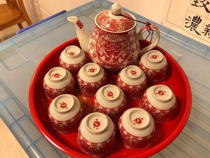 Chinese Tea Set 十全十美 龍鳳茶盤套裝