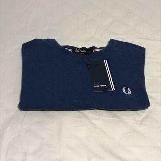 Fred Perry Navy Ringer T-shirt / Tee