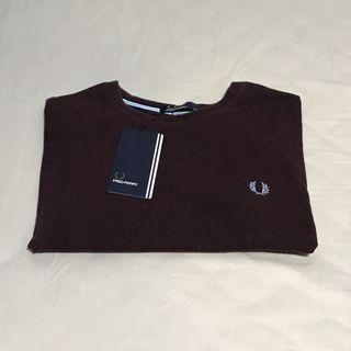 Fred Perry Maroon Ringer T-shirt / Tee
