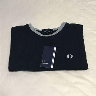 Fred Perry Navy Block Ringer T-shirt / Tee