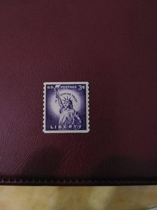 US mint stamp with gum
