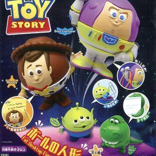 Toy Story 反斗奇兵扭蛋 巴斯光年 胡迪 三眼仔 泡泡龍