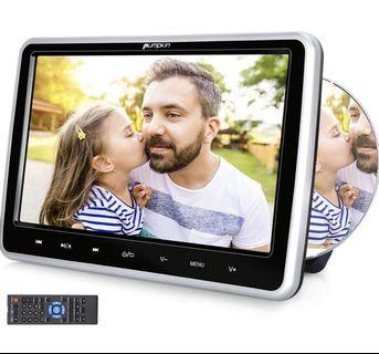 🔥OFFER🔥 PUMPKIN 10.1 Inch Dual Car Headrest DVD Player with Suction Drive, Support Sync Screen, Region Free, AUX, AV in Out, USB SD, Last Memory, Touch Button