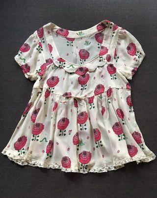 ❤️一口價$250 Franche Lippee 紅花金線上衣