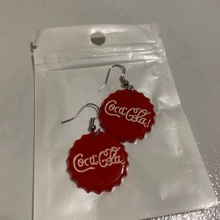 🚚 Coca Cola Bottle Cap Earrings