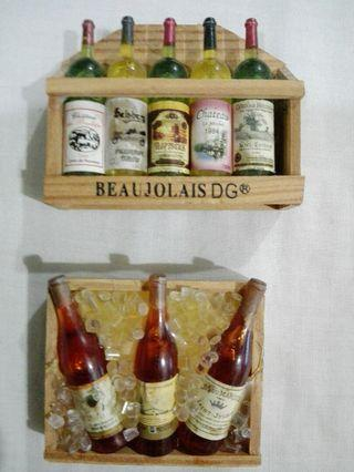 Miniature Vintage Wine Fridge Magnets