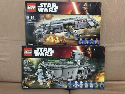 LEGO Star Wars 75103 and 75140