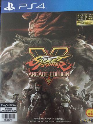 Street fighter 5 Arcade edition 街霸5 中文版