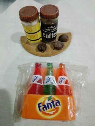 Miniature Fanta/Coffee Fridge Magnets